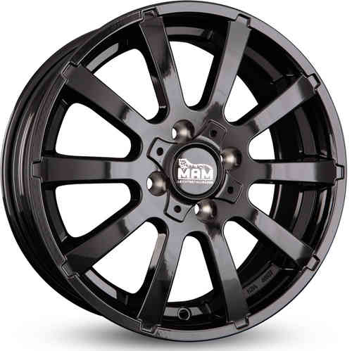 MAM W3  5,5j X 14 ET35 /4X100 Black Painted